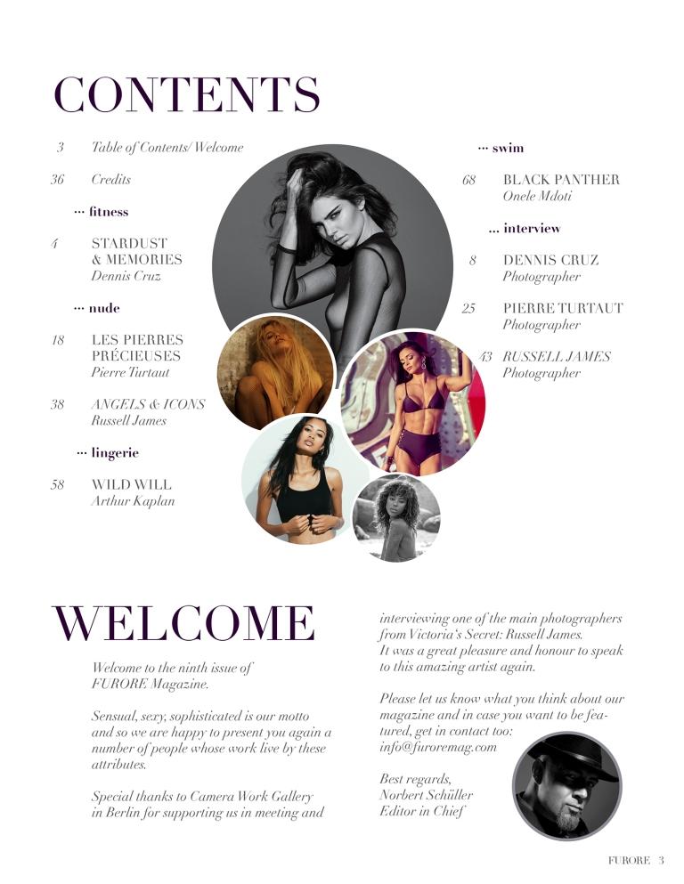 FURORE Issue_09 Contents